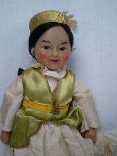 "Vintage USSR Kazakhstan 10"" Doll Soviet Union Kazakh Russian 60s Soft Body Rare"