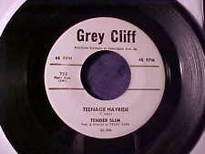 TENDER SLIM~R&B ROCKER POPCORN ROCKABILLY INSTRO 45 GREY CLIFF Hear