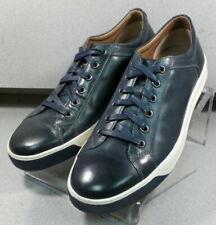 271087 DF38 Men's Shoes Size 8 M Navy Leather Lace Up Johnston & Murphy