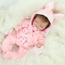 Realistic Reborn Dolls Baby Lifelike Sleeping Soft Vinyl Silicone Newborn Babies