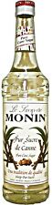 MONIN Coffee Syrup PURE CANE 70 CL - Great as a substitute for Sugar!