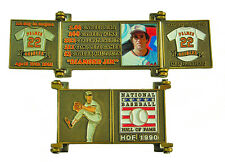 1990 Jim Palmer Cooperstown MLB HOF Bronze Door Pin in Display Box - Orioles