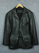 ROCO BAROCO Men's Real Leather Shell Buttoned Blazer / Jacket [SZ 52 or ~L - XL]