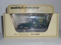 Matchbox Models Of Yesteryear Y5 1927 Talbot Van Liptons Tea Mint A/A