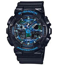 Casio G Shock *GA100CB-1A Camo Blue Face Black Gshock Ivanandsophia COD PayPal