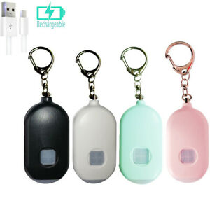 Emergency Personal Alarm Keychain LED Light Safe 130dB Sound Self Defense Alarm