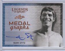 2015 Leaf Legends of Sport Medalgraphs #MAMS1 Mark Spitz Auto