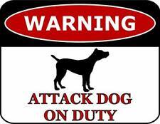 Warning Cane Corso Attack Dog On Duty Dog Sign Sp472