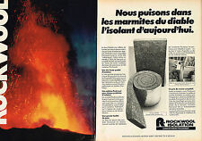 PUBLICITE ADVERTISING 104  1981  ROCKWOOL   laine de verre isolation ( 2 pages)