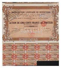 ACTION 500 FR MANUFACTURE LYONNAISE DE BONNETERIE 1927  (réf 2)