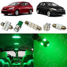 6x Green LED lights interior package kit for 2009-2013 Toyota Matrix TM1G