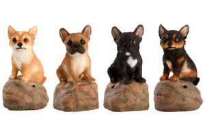 Eschert Gartenfigur Tierfigur Hundewelpe Bewegungsmelder mit Ton  37000574