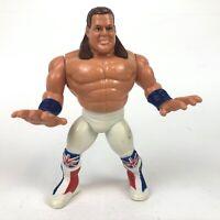 "*British Bulldog* WWF Hasbro 5"" Wrestling Action Figure WWE Series 4 1991"