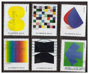 United States, 5382-91, USED, 2019, FVR Ellsworth Kelly, Set of 10