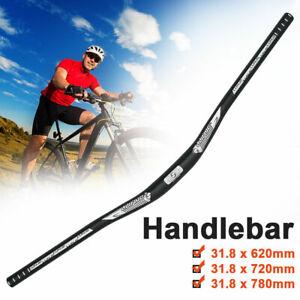 MTB Mountain Bike Bicycle Cycling Aluminum Riser Handlebar 31.8mm x620/720/780mm