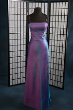 Prom Formal wear Bridesmaid Alfred Angelo Purple Sz:4 Empire Iridescent Satin