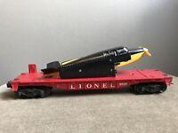 LIONEL POSTWAR 6800 RED FLAT CAR w/ Black AIRPLANE O GA Model Train Railroad RR