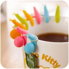 10pcs Snail Shape Silicone Tea Infuser Bag Holder Cup Mug Candy Colors Gift Set