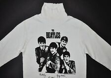 Beatles VNTG White Long Sleeve Turtleneck Shirt Nems Enterprises 1963 Yth M RARE