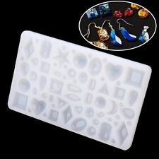 Silicone Cabochon Mold Square Round Jewelry Pendant Resin Casting  Craft Tool