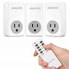 Remote Control Outlet Wireless Light Switch Power Plug By Ankuoo, Wireless For 1