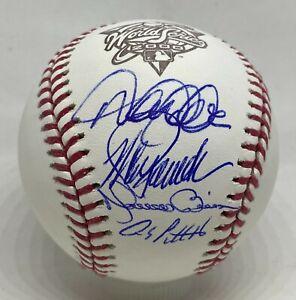 CORE 4 FOUR Yankees Multi Signed 2000 WS Baseball Jeter Rivera Posada FANATICS