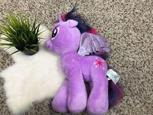 """Build A Bear Workshop My Little Pony Unicorn Wings Stuffed Animal Purple Sz 16"""""""