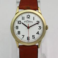 Gold Filled 35.5mm B.W. Raymond Elgin 873 21J Manual Railroad Wristwatch ca.1964
