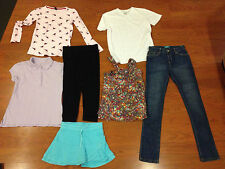 Large Lot 7 Pieces Old Navy Jeans Tops GAP Top Land End Limited Too Large 10-12