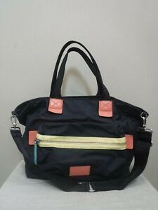 MARC JACOBS WORK WEAR Large Nylon Leather Baby School Carryon Handbag Purse Bag