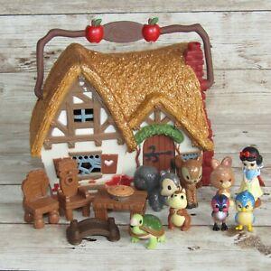 Disney Store Animators Collection Snow White Cottage Micro Playset + Accessories