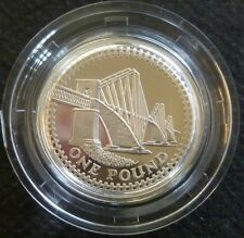 2004 Sterling Silver Proof Une Livre £ 1 Royal Comme neuf in box de question + COA