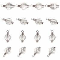 5Pcs Stainless Steel Spiral Bead Cages Pendants for Jewelry Necklace Making