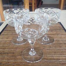 Vintage Thomas Webb Crystal Champagne Glasses X 3