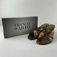 NEW Franco Sarto Carrera Women 8 M Metallic Bronze Sandals Open Toe Slide Shoe