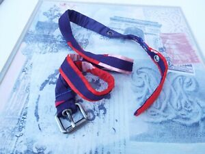 Marc Jacobs Blue Red And Pink Silk Like Fabric Skinny Belt **SEE MEASUREMENTS**