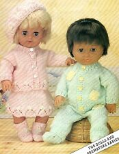 DOLLS PREMATURE BABY KNITTING PATTERN  12/16 & 20 INCH  (766)
