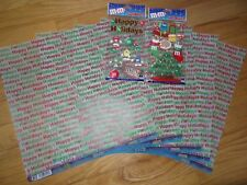 Christmas M&M's Holiday candy Scrapbooking sticker and Vellum Jolee's Boutique