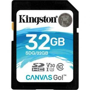 Kingston 32GB SDHC Canvas Go 90R/45W CL10 U3 V30, up to 90MB/s read, and 45MB/s
