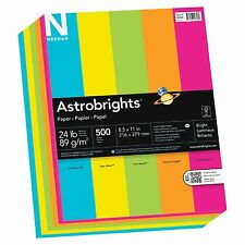 "Astrobrights Colored Paper - For Inkjet, Laser Print - Letter - 8.50"" X (99608)"