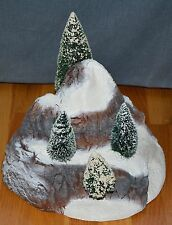 "Department 56 Heritage Village ""Small Mountain with Frosted Sisal Trees"""