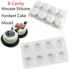 8 cavity Round Silicone Mousse Cake Mold Candy Chocolate Baking Mould Tray DIY
