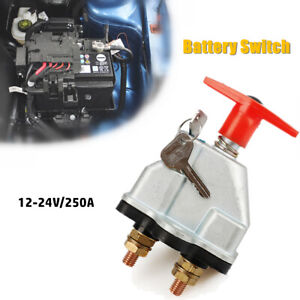 Battery Disconnect Switch 24V Heavy Duty Quickly Cutoff Power Switch Car Marine