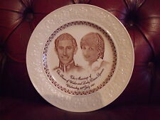 Prince Charles & Lady Diana Wedding Plate 1981 English Ironstone 24.75cm