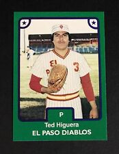 Ted Teddy Higuera 1984 TCMA Minor League Rookie Card RC El Paso Diablos Mint *5