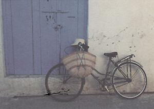 Postkarte: Mattes -  Fahrrad mit Tasche und Hur