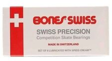 BONES SWISS New Skateboard Bearings 8-Pack 8mm Precision Competition Size 608