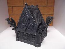 große Schatulle Schmuckbox Dose Gargoyle-Haus als Truhe Schatzkiste