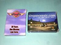 Lot Of 2 Airlines Playing Cards Complete Singapore Airlines Southwest Airlines