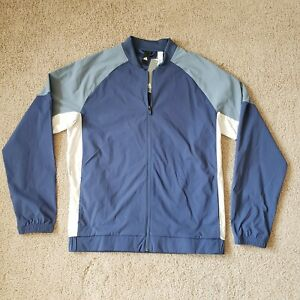 Adidas Mens Size Medium Blue DM1597 Sport ID Lightweight Zip Bomber Jacket